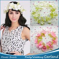 New Headbands 1pc Flower Braided Hawaiian Foam Flowers Hair Bridal Wedding Flower Garland Bridal Hair Accessories Free Shipping