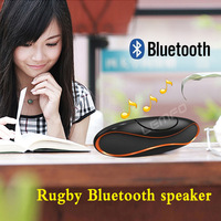Bluetooth Speaker QFX TF/AUX/USB/FM Wireless Rugby Portable Subwoofer Loudspeakers Music Sound Box with Built-in Microphone New