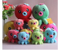 Free shipping Wholesale (5pcs/lot) 8cm*7cm Multicolour octopus plush toy doll wedding gifts small doll