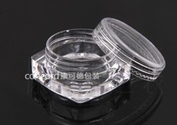 Free shipping 100pcs/lot 3G Empty Cosmetic jar,square bottom cream jar, empty cosmetic cream jar devide container