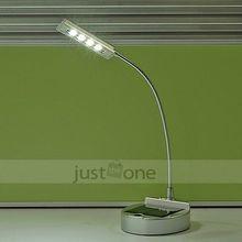 Solar Energy/ USB Powered White 4 LED Flexible Desk Study Reading Light PC Laptop Lamp(China (Mainland))