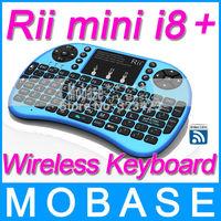 Rii i8  upgrades 2.4G Wireless Mini Keyboard for Android Smart TV, TV Box, HTPC, PC  - Blue