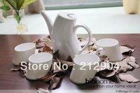 Free Shipping Japanese Style White Bone China Ceramic Cup Banana Teapot Set Gift