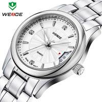 WEIDE 2014 luxury brand watches men stainless steel Japan movement watch calendar quartz watch relogios 30m water resistant