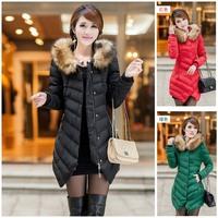 women winter cotton padded jacket,slim medium long jacket ,wadded long coat winter,casual women down coat,free shipping,L0659