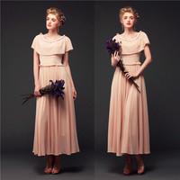 Free Shipping 2014 High Quality Royal European and American Retro 1960s 1970s Vintage Women's Dress Cloak Elegant Pink 8038#