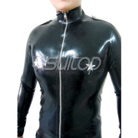 Suitop free shipping latex shirt for men