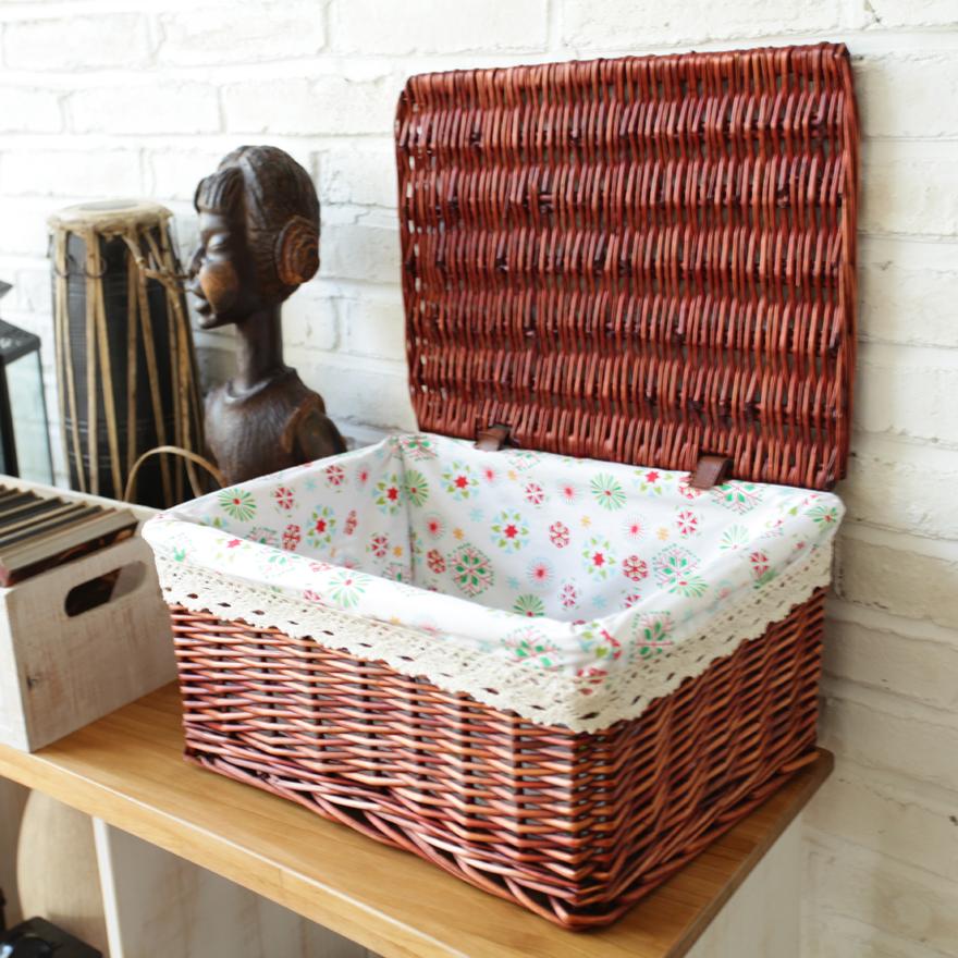 Плетеные коробки для хранения вещей купить - 2