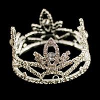 Promotion!! Free Shipping 6pcs/lot Fashion Mini Children Kids Tiara Wedding Flower Girls Crystal Crown Cute Accessories For Hair