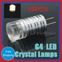 AC/DC 12V 3W Crystal Corn Bulb Chandelier Spot Light refrigerator light Indicator Desk Bulb Support Dimmer 10pcs G4 LED Lamps