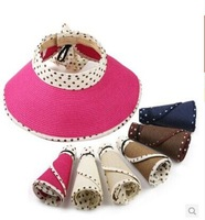 Fashion ribbon hat female summer children's hat straw hat sun hat