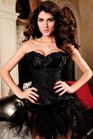 FISHION sexy black lace underwear lacing corset woman clubs  G-string S, M, L, XL3090