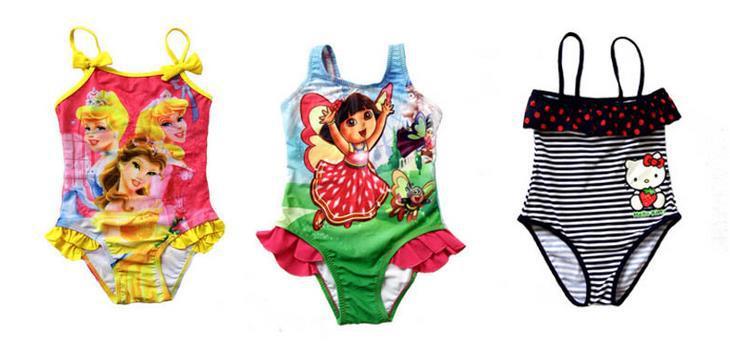 AliExpress.com Product - KNB 2014 summer baby girl cartoon swimwears lovely girls frozen swimsuit bathing suit lovely beach children swimwear ASS14005