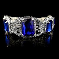 (Min Order.10USD) Blue stone fashion for woman crystal bracelet free shippment