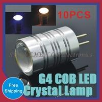 3W Crystal Spotlight Pendant Indoor Lighting DC12V refrigerator light Indicator Desk Bulb Chandelier 10 pcs Mini G4 COB LED lamp