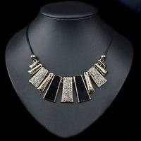 (Min Order.10USD) Gold alloy women pendant necklace rhinestone chocker neckalce women personality jewelry
