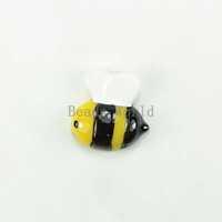 Free Shipping 20 Pcs Yellow Bee Resin Flatback Cabochon Scrapbook DIY Craft Phone shell /Hair Embellishment 17x17mm (W03623 X 1)