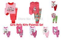 Girl Clothing Sets Baby Hello Kitty Pajamas Sets Kids Pijamas Children Long Sleeve Brand Sleepwear 10design 1piece Retail