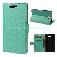Free Shipping+For Sony Xperia M2,Maze Pattern Stand Leather Cover for Sony Xperia M2 D2303 D2305 D2306 / M2 Dual D2302