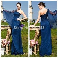 FCD34 2014 New Arrivel Chiffon One Shoulder Mother of the Bride Dress Formal