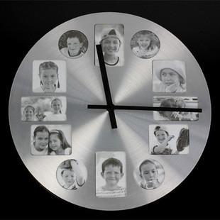 [ Dafen Qi ] Frame Wall Clock simple wall clock fashion wall clock creative photo wall clock [ round ](China (Mainland))