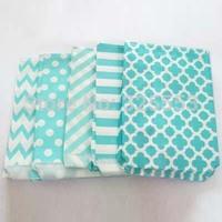 500pcs Light blue mixed designs paper bags Paper Popcorn Bags