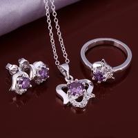 Wholsale new FASHION jewelry  925 Sterling Silver earrings ring necklace set Penoyjewelry LKNSPCS651