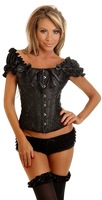 FISHION pattern piece fitted sexy black lace underwear lacing corset woman clubs G-string S, M, L, XL 3049