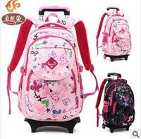 Free shipping 2014 new children school bags cute girls backpack mochila children school bag High quality wheeled Kids backpacks