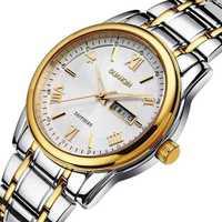 Ultra-thin quartz watch waterproof dual calendar Luminous Business Mens Watches