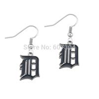 Cheap 50pcs a lot free shipping enamel Detroit Tigers charm charm earrings