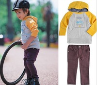 Factory Clear Stock Children Clothing Spring Fall Baby Set Long Sleeve Hoodies + Pants 2pcs Boys Casual Sets 80-120 Kids Suit