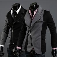 Hot Sale Men's Suit/ Men's Casual Slim fit Skinny business suits,Irregular design,Men Suits,Men clothes Black/dark grey