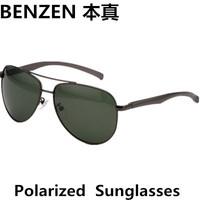2014  New Men Polarized  Sunglasses driver driving  glasses Aviator Unisex Sunglasses oculos with case black 2091B
