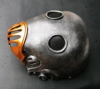 men new Kroenen Nazi head Mask Hellboy Movie Adult Head Prop Replica Theater Costume Silver helmet Masquerade Halloween Party