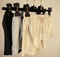 2015 fashion loose elastic waist Draw string flash gold tassel women's bud shorts free shipping