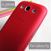 Case For Samsung Galaxy S3 i9300 Colorful Phone Protect Cover 0.3mm Ultra-thin Slim Matte Transparent Case [No Tracking Code]
