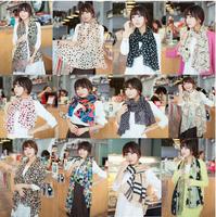 Chiffon Fashion   Scarf, Stole, Shawl, wrap, Long size Cape for women / girl, Mini Order US$5, Many colors  T1