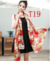 Chiffon Fashion autumn -summer ice silk Scarf  Tassel  Scarf, Stole, Shawl, wrap, Long size Cape for women / girl, ,   T19