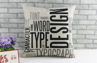 Free Shipping,100pcs /lot, 10pcs/design, CC-3, Customized Cotton Linen Cushion Cover with your design printing for sofa