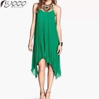 2014 Fashionable spaghetti three colors women pleated chiffon dress woman sexy summer dresses 13910