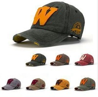 letter w 2014 new branded sports Baseball caps Unisex Distressed Wearing Style Outdoor Sun Hat G4043