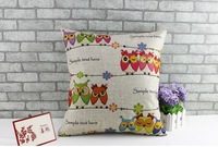 Free Shipping,100pcs /lot, 10pcs/design, CC-4, Customized Cotton Linen Cushion Cover with your design printing for sofa