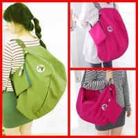 New 2014 Fashion Nylon Foldable Multifunctional Women's School Backpack Men One Shoulder Cross Body Casual Travel Bag 4 Colors