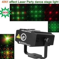 new 2014 Mini 4 patterns Whirlwind R&G Laser Projector Lighting Stage Disco DJ Club KTV family party SHOW light  free shipping