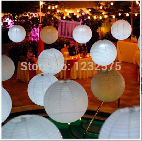 "Wholesale - Free shipping 15pcs 30cm(12"") Chinese round paper lantern wedding lantern festival decoration(China (Mainland))"