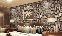 Wallpaper Brick Stone Chinese Style Classical Stereo Living Room Wallpaper
