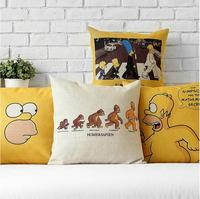 Cute yellow cartoon The Simpsons  IKEA  cotton cartoon Cushion cover Pillow cover pillowcases office home decorate sofa cushions