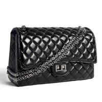 Super star's Favorite  Luxury Famous Brand Real Sheepskin handbags Vintage Classic Chain Flap women messenger bags
