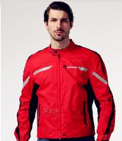 Free shipping  men motorcycle jacket Motoboy men automobile race ride clothing motorcycle clothing jacket motorcycle  red
